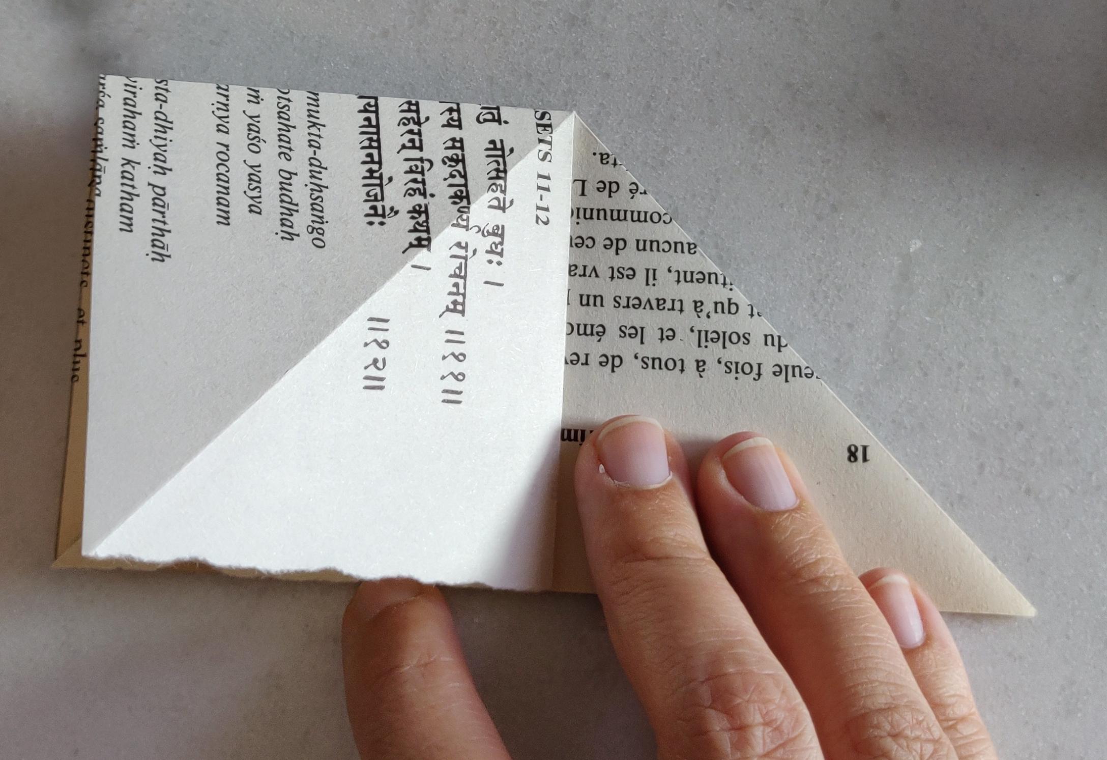 papier origami recycler guirlande grue